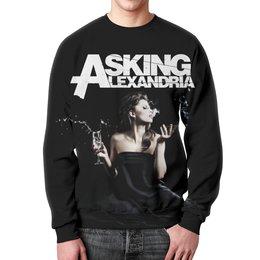 """Свитшот унисекс с полной запечаткой """"Asking Alexandria"""" - музыка, рок, группы, asking alexandria, аскинг александриа"""