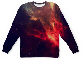 "Свитшот унисекс с полной запечаткой ""Our Space"" - space, звезды, космос, наука, thespaceway"