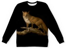 """Свитшот унисекс с полной запечаткой """"Лисица"""" - арт, лиса, животное, ночь, природа"""