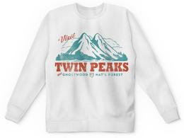 """Свитшот унисекс с полной запечаткой """"Твин Пикс"""" - сериалы, twin peaks, твин пикс"""
