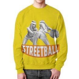 """Свитшот мужской с полной запечаткой """"Streetball"""" - спорт, баскетбол, streetball, стритбол"""