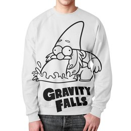 """Свитшот унисекс с полной запечаткой """"Гном Стив"""" - gravity falls, гном, стив, гравити фолз"""