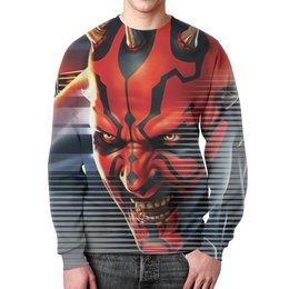 """Свитшот мужской с полной запечаткой """"Darth Maul Design (Star Wars)"""" - фантастика, star wars, звездные войны, звезда смерти, дарт мол"""