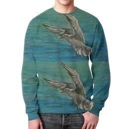 """Свитшот мужской с полной запечаткой """"Чайка"""" - море, свобода, чайка"""