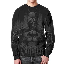 "Свитшот унисекс с полной запечаткой ""Бэтмен"" - комиксы, супергерои, бэтмен, готэм"
