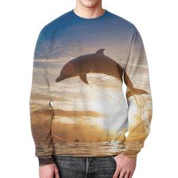 """Свитшот унисекс с полной запечаткой """"Дельфин"""" - природа, фотография, дельфин"""