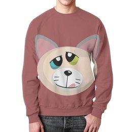 """Свитшот унисекс с полной запечаткой """"Успешный Кот"""" - кот, wax, успешный кот, котец, котан"""
