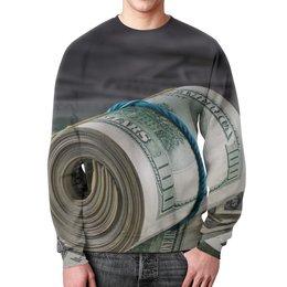 """Свитшот унисекс с полной запечаткой """"Деньги"""" - деньги, доллары, купюры, банкноты, банк"""