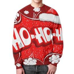 """Свитшот унисекс с полной запечаткой """" Ho Ho Ho"""" - рождество, новый год, зима, красный, санта"""