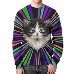 """Свитшот унисекс с полной запечаткой """"Морда кота"""" - кошка, животные, cat, коты, котики"""