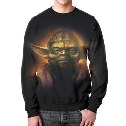 """Свитшот унисекс с полной запечаткой """"Йода (Yoda)"""" - star wars, yoda, звездные войны, йода, стар варс"""