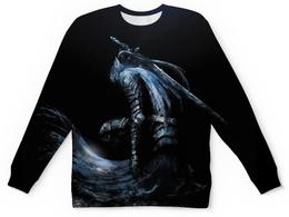 """Свитшот унисекс с полной запечаткой """"Dark Souls"""" - арт, рыцарь, dark souls"""