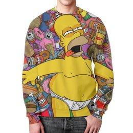 """Свитшот мужской с полной запечаткой """"Гомер Симпсон"""" - юмор, simpsons, симпсоны, мульт, фэн-арт"""