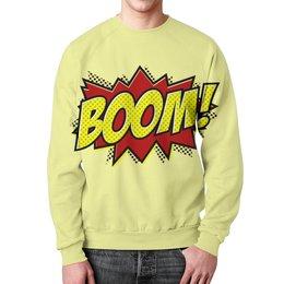 """Свитшот унисекс с полной запечаткой """"Boom!"""" - прикольные, комиксы, boom, супергерои, бум"""