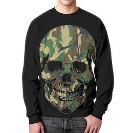 """Свитшот мужской с полной запечаткой """"Skull - 11"""" - skull, череп, рисунок, день рождения, rock and roll"""