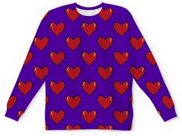 """Свитшот унисекс с полной запечаткой """"Сердечки"""" - сердца, 14 февраля, сердечки, день влюбленных"""