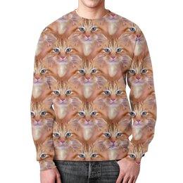 """Свитшот унисекс с полной запечаткой """"Много кошек"""" - стиль, дизайн, кошечки, пушистики"""