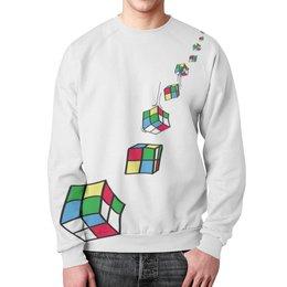 "Свитшот унисекс с полной запечаткой ""Кубик Рубика"" - кубик, кубики, кубик рубика, кубики рубика"