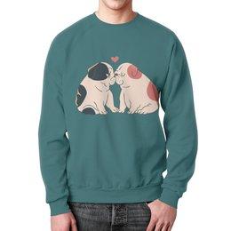 "Свитшот унисекс с полной запечаткой ""Мопсики"" - dog, pug, собака, cute, мопс"