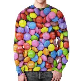 """Свитшот унисекс с полной запечаткой """"Конфетки"""" - конфеты, 3d, вкусно, сластена, сладкоешка"""