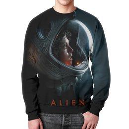 """Свитшот унисекс с полной запечаткой """"Чужой"""" - alien, чужой"""