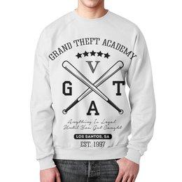 """Свитшот мужской с полной запечаткой """"GTA  """" - игры, grand theft auto, gta, гта, геймерские"""