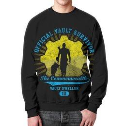 """Свитшот унисекс с полной запечаткой """"Fallout. Vault Dweller"""" - игры, fallout, геймерские, vault, vault dweller"""