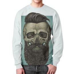 """Свитшот мужской с полной запечаткой """"Skull Art"""" - skull, череп, борода, artwork, арт дизайн"""
