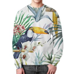 """Свитшот унисекс с полной запечаткой """"Пеликан"""" - красиво, птицы, природа, пеликан"""