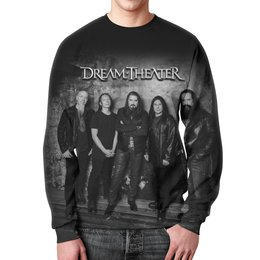 "Свитшот мужской с полной запечаткой ""Dream Theater"" - музыка, heavy metal, группы, метал, dream theater"