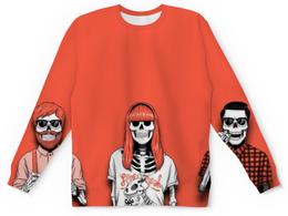 """Свитшот унисекс с полной запечаткой """"Bones Brigade"""" - скелеты, черепа, skull"""