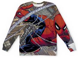 """Свитшот унисекс с полной запечаткой """"Человек-паук  Враг в отражении"""" - spider man, питер паркер"""