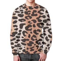"""Свитшот мужской с полной запечаткой """"Леопардовый"""" - животные, кошки, леопард, леопардовый"""