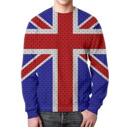 """Свитшот мужской с полной запечаткой """"British Design"""" - англия, флаг, символ, великобритания, британский флаг"""
