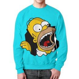 """Свитшот унисекс с полной запечаткой """"Гомер Симпсон"""" - simpsons, homer, прикольные, гомер симпсон, симпспоны"""