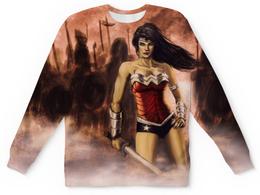 """Свитшот унисекс с полной запечаткой """"Чудо-Женщина (Wonder Woman)"""" - чудо-женщина"""