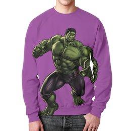 """Свитшот мужской с полной запечаткой """"Халк (Hulk)"""" - комиксы, мстители, avengers, марвел, брюс баннер"""