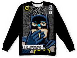 "Свитшот унисекс с полной запечаткой ""Бэтмен"" - бэтмен, джокер, комиксы, dc комиксы"