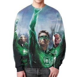 """Свитшот унисекс с полной запечаткой """"Зелёный Фонарь (Green Lantern)"""" - green lantern"""