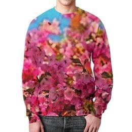"""Свитшот мужской с полной запечаткой """"Весенние цветы"""" - цветы, весна, природа, цветные, фотография"""