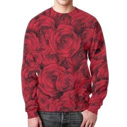"""Свитшот мужской с полной запечаткой """"Roses"""" - для девушек, любовь, rose, подарок, розы"""
