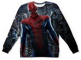"""Свитшот унисекс с полной запечаткой """"Человек-паук (Spider-man)"""" - город, марвел, человек-паук"""