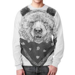 """Свитшот унисекс с полной запечаткой """"Медведь"""" - животные, медведь"""