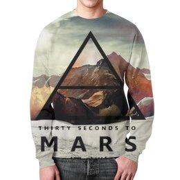 """Свитшот мужской с полной запечаткой """"30 Seconds to Mars"""" - 30 seconds to mars, rock, 30 stm, джаред лето"""