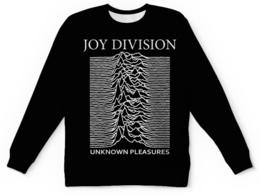 """Свитшот унисекс с полной запечаткой """"Joy Division"""" - joy division, unknown pleasures, группы, ian curtis, пост-панк"""