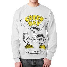 """Свитшот унисекс с полной запечаткой """"Green Day"""" - рок, панк, группы, green day, грин дэй"""