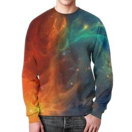 """Свитшот унисекс с полной запечаткой """"Космическая туманность"""" - космос, фотография, звёзды, спутник, туманность"""