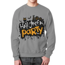 """Свитшот мужской с полной запечаткой """"Halloween"""" - хэллоуин, party, сова, тыква, halloween party"""