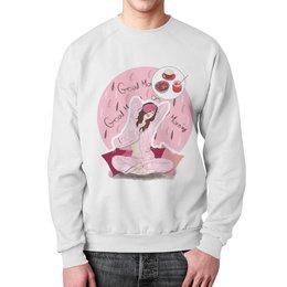 """Свитшот унисекс с полной запечаткой """"Good Morning"""" - утро, мода, розовый, люди, пижама"""