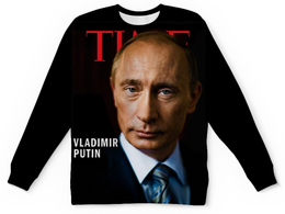 "Свитшот унисекс с полной запечаткой ""Putin "" - россия, russia, путин, президент, putin"